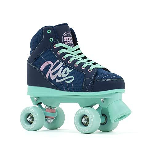 Rio Roller Lumina Quad Skates Rollschuhe Navy-Green Navy-Green, 37