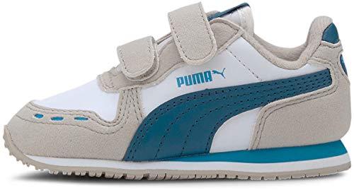 Puma - PUMA - Unisex-Baby Cabana Racer Sl V Schuhe, 22 EU, Puma White/Dresden Blue