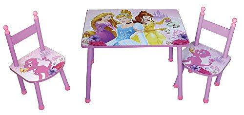 Fun House Disney Princesses Ensemble Une Table avec Deux CHAISES pour Enfant, MDF, Rose, 60x40x44 cm
