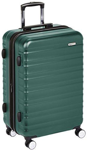 Amazon Basics - Maleta rígida de alta calidad, con ruedas y cerradura TSA incorporada - 68 cm, Verde