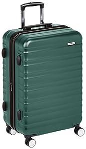AmazonBasics - Maleta rígida de alta calidad, con ruedas y cerradura TSA incorporada - 68 cm, Verde