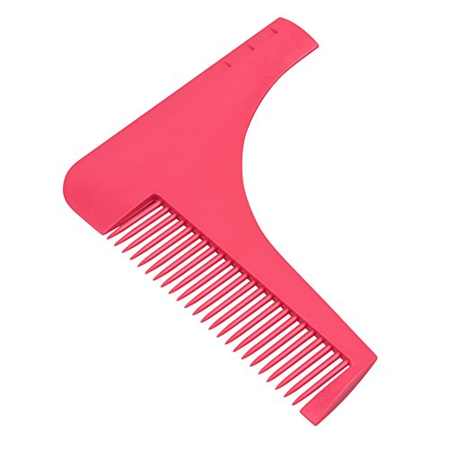 Barba Shaping Tool & Pettine, SUNNIOIR Styling Barba e Che Modella Lo Strumento Pettine per Perfect Symmetry & Lines