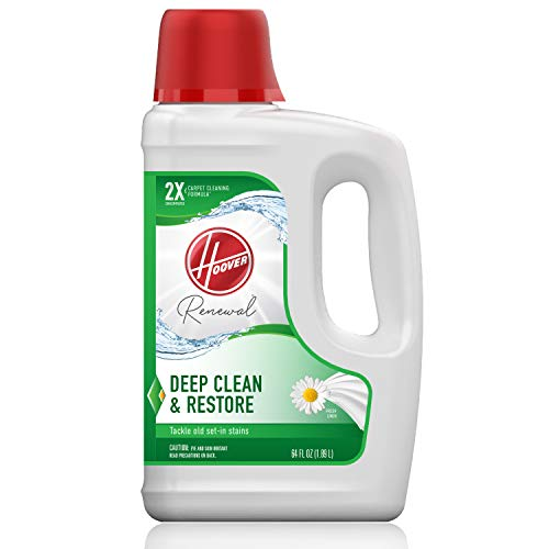 Hoover Renewal Deep Cleaning Carpet Shampoo, Concentrated Machine Cleaner Solution, 64oz Formula, AH30924, White, 64 oz