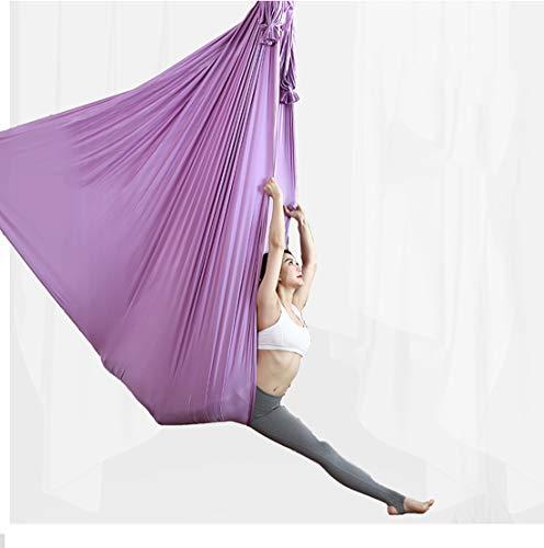 Sale!! LWKBE Premium 4.4 Yards Aerial Yoga Hammock,Flying Yoga Silk Kit Antigravity Ceiling Hanging ...