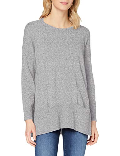 Sisley Sweater L/s Maglione, Melange Light Grey 501, L Donna