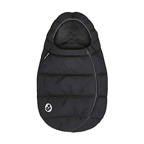 Maxi-Cosi Fußsack, kuschelig warmer Universal Winterfußsack, passend für alle Maxi-Cosi Babyschalen und Kinderwagen und vielen mehr, nutzbar ab der Geburt bis ca. 2 Jahre, Essential Black