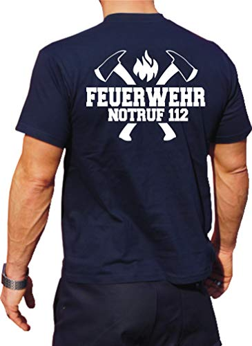 Feuer1 Navy T-shirt fonctionnel avec protection UV 30+ Blanc 3XL bleu marine