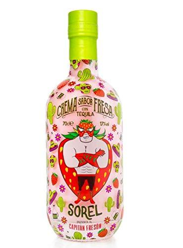 Likör Capitan Freson, Erdbeerlikör mit Tequila. 0,7 L, 17% vol.