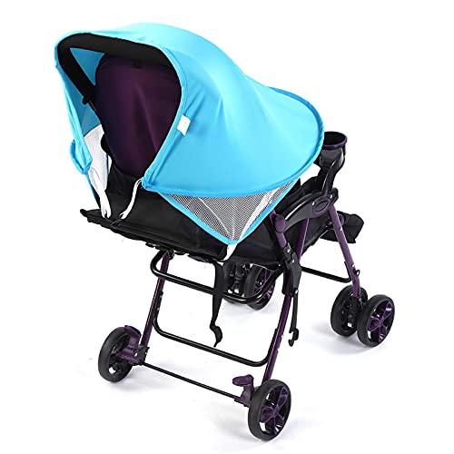 Cubierta solar para cochecito, Sombrilla para cochecito, Protección UV Spandex Material de alta elasticidad para exteriores para cochecito de bebé(blue)