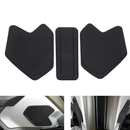 Easygo for BMW R1200GS ADV 14-19 Motorcycle Tank Traction Side Pad Gas Fuel Knee Grip Decal Protector (For R1200GS ADV 14-19 Black)