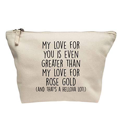 Flox Creative Trousse de maquillage I Love You More Than Or rose