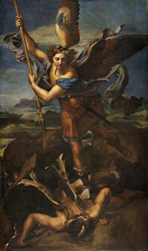 Berkin Arts Raffaello Sanzio Giclee Canvas Print Paintings Poster Reproduction(St. Michael Vanquishing Satan)#XFB