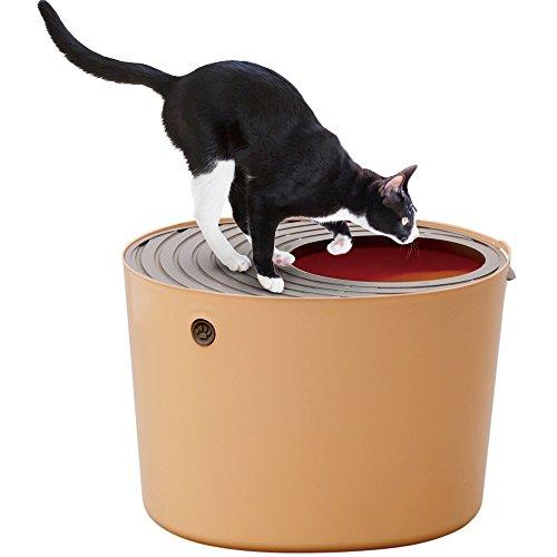 アイリスオーヤマ 上から猫トイレ オレンジ レギュラー