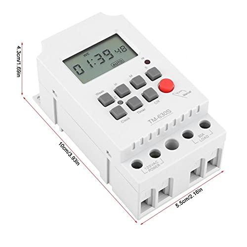 Eosnow Temporizador con Pantalla Grande Temporizador Digital 110V, para Tablero publicitario