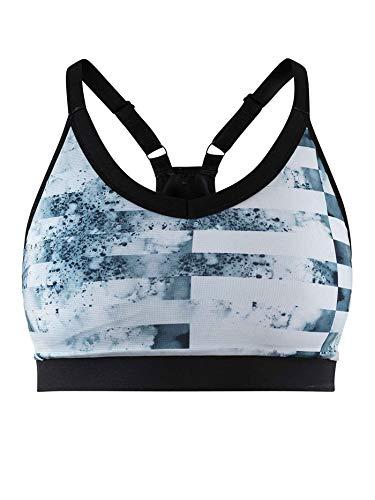 Craft Motion Sport-bh voor dames, lichtblauw, zwart ondergoed