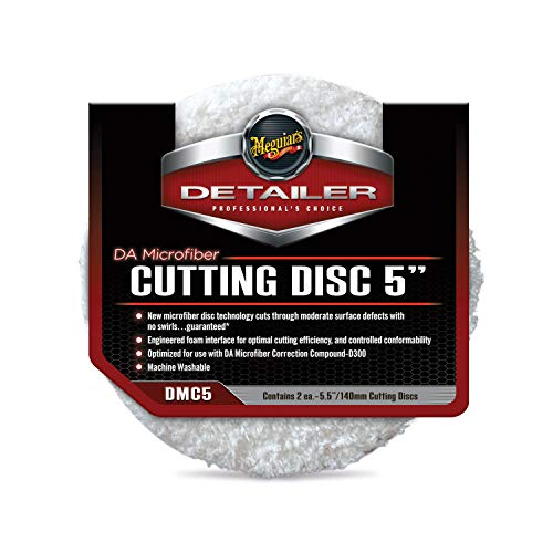 Meguiar's DMC5 DA 5' Microfiber Cutting Disc, 2 Pack