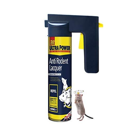 Bricoloco Spray Laca Anti Roedores Ultra Power REPELER - Aerosol Gatillo 600ml fórmula amarga Natural replente de Ratas y Ratones (1)