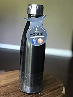 Manna Vogue 17 Oz Stainless Steel Double Walled Vacuum Insulated Design Leak Proof Water Bottle | No Sweat | BPA Free | Ke...