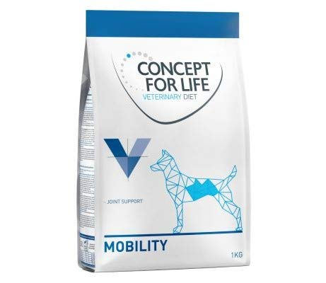 Veterinary Concept for Life Diet Dog Mobility 4kg Dietetic Dry Dog Food Support Cartilage & Joint Metabolism Healthy Omega-3 Fatty Acids EPA Vitamin E Raw Meat Ingredients