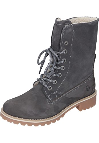 Tamaris Damen 26443-21 Combat Boots, Grau (Anthracite 214), 38 EU