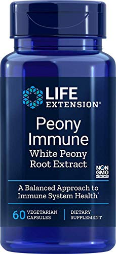 Life Extension - Estratto di radice di Peonia Peonia Bianca immuni 600 mg. - 60 capsule vegetariane