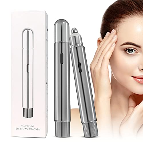 RUGG Tondeuse à sourcils électrique rechargeable pour sourcils, poils du nez portable, sans douleur, épilateur facial avec lumière LED pour les peluches de pêche, les lèvres, le menton