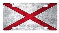 ナンバープレートアラバマ州旗ノベルティ車カバー装飾フロントプレート