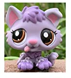 Greneric Purple Short Hair Cat, Rare LPS Toy Sparkle Action Figures Kids Toy Gift Littlest Pet Shop