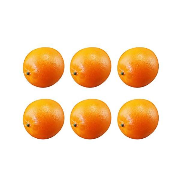 6pcs Artificial Oranges Lifelike Foam Fruits Photography Props for Store Kitchen Creative Home Decoration
