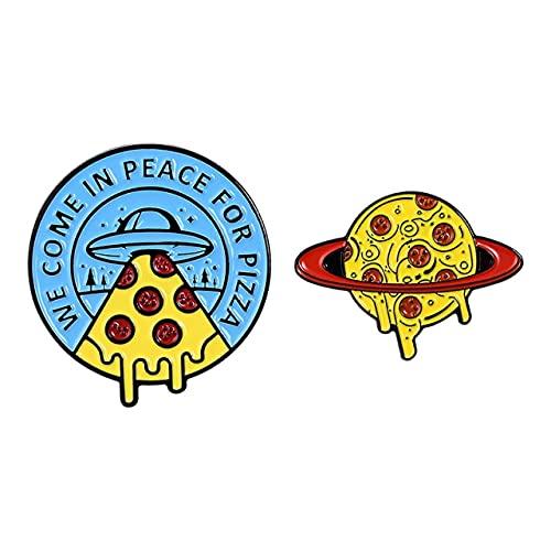 Pin de esmalte con diseño de dos es mejor que un avión o un conejo, sin señal, Adam Shark broche personalizado solapa Pin insignia amigos regalo niños