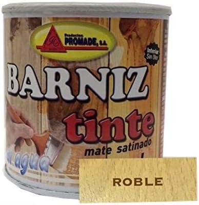 Promade - Barniz Tinte Satinado al Agua – Barniza, Decora y Protege Maderas de Interior -375 ml (Wengué)…