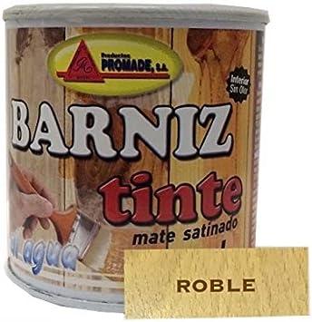 PROMADE - Barniz tinte satinado al agua roble 375 ml