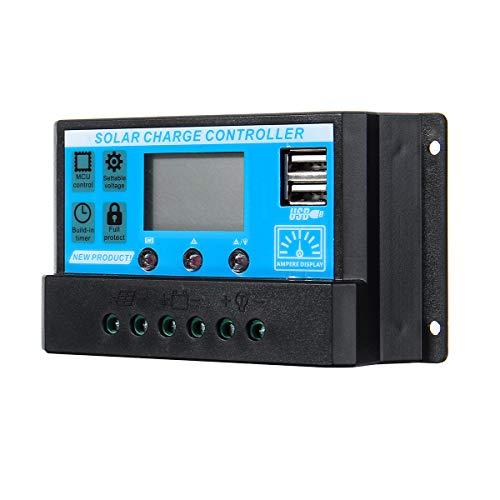 ILS – bijgewerkte 10A 12V / 24V Auto Volt/Amp/Temp Display PWM zonnepaneel regelaar lader ondersteuning FINMAX Detection