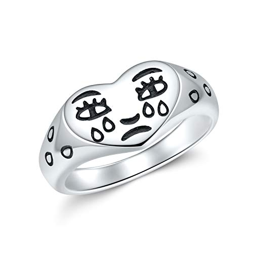Crying Heart Ring Silver Fun Rings …