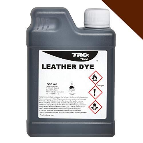 TRG Lederfarbe 500 ml für Glattleder und Kunstleder - Farbe wählbar, (Mittelbraun)