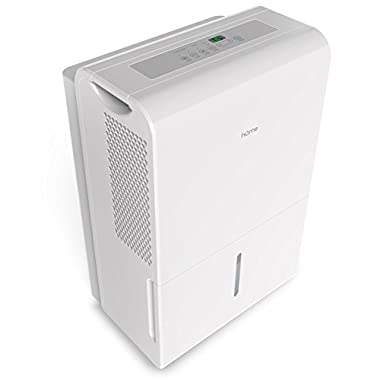 hOmeLabs 4000 Sq Ft Dehumidifier 8.75 Gallon (70 Pint) Energy Star Safe Mid Size Portable Dehumidifiers for Basements & Large Rooms with Fan Wheels and Continuous Drain Hose Outlet to Remove Odor