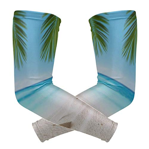 Best Arm Sleeve Beautiful Shell Sea Beach Print Ice Silk Women Arm Covers Uv Protection Arm Sleeves Quick-Drying&Breathable Men Rash Guard Long Sleeve for Unisex Outdoor 2pcs