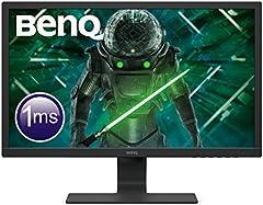 "BenQ GL2480 - Monitor Gaming de 24"" FullHD (1920x1080, 1ms, 75Hz, HDMI, DVI-D, VGA, Eye-Care, Flicker-free, Low Blue Light, Sensor Brillo Inteligente, antireflejos) - Color Negro"