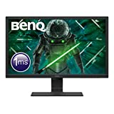 "BenQ GL2480 - Monitor Gaming de 24"" FullHD (1920x1080, 1ms, 75Hz, HDMI, DVI-D, VGA, Eye-Care, Flicker-free, Low Blue Light, Sensor Brillo Inteligente, antireflejos) - Color Negro"