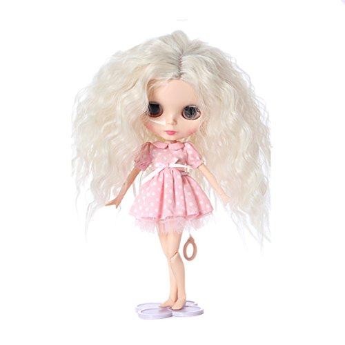 Sharplace Schöne Puppen Perücke Haar Haarteil Für 1/6 Blythe Puppen - Farbe 11