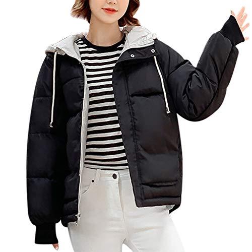 Auiyut Damen Puffer Jacke Wintermantel Parka Coat Oversized Jacke Winterparka Kurzer Jacke Warm Stepp Jacke mit Kapuze Steppmantel Outdoor Winterjacke