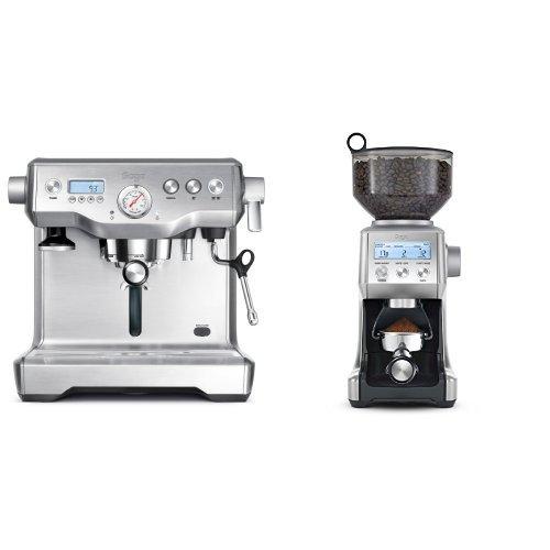 Sage by Heston Blumenthal the Dual Boiler Coffee Machine, 2200 W - Silver & Sage by Heston Blumenthal the Smart Grinder Pro, 165 Watt - Stainless Steel