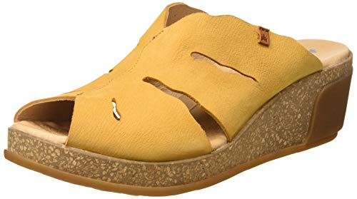 El Naturalista Leaves, Zuecos Mujer, Amarillo (Curry Curry), 37 EU
