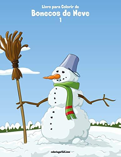 Livro para Colorir de Bonecos de Neve 1