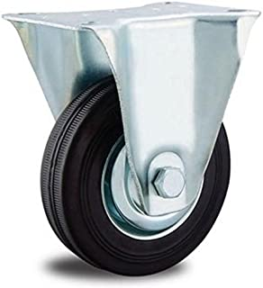 EXCOLO Rol transportwielen massief rubber banden 160 mm rubber zwart kogellagers (bokwiel 150 mm)