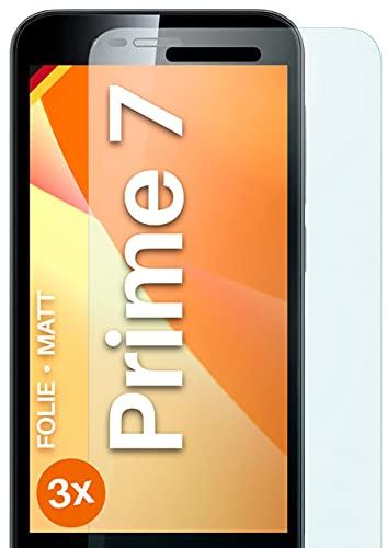 moex Schutzfolie matt kompatibel mit Vodafone Smart Prime 7 - Folie gegen Reflexionen, Anti Reflex Bildschirmschutz, Matte Bildschirmfolie - 3X Stück