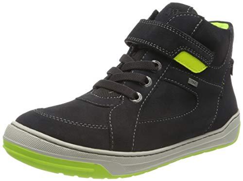 Lurchi Barney-TEX Sneaker, Charcoal NEON Yellow, 34 EU