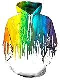 RAISEVERN Graffiti Melting Paint Hoody Journey Pullover Sweatshirt for Teen Girls Melting Paint X-Large,2016 Style 01