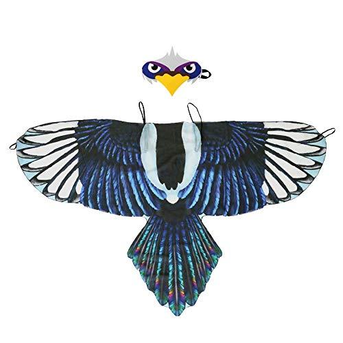 Winthai Divertido simulación pájaro alas Traje con Diadema para niños niños niños niñas Halloween Mascarada rol Juego de Vestir temática Fiesta Estilo D
