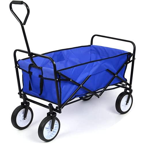 Carro Transporte Plegable Carro Playa Carro de Mano para Picnic Cámping Jardín...